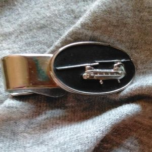 Military Helicopter Tie Clip Robbins Co Attleboro